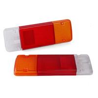 luces de cola de coche nuevo al por mayor-Tail nuevo par trasera Luz trasera de la lente blanco + rojo + ámbar posterior del coche de la luz para Toyota Landcruiser Hilux Ute lente luces traseras