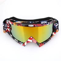 Wholesale colors goggles ski resale online - Ski Goggles Durable UV Protection Ski Snowmobiling Antifogging Colors Snow Mountain Wind Mirror Goggles Windproof