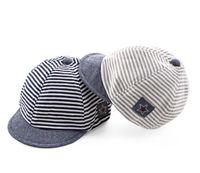 chapéus de beisebol dos meninos infantis venda por atacado-Algodão Infantil Chapéus de Bebê Listras Casuais Bonitos Macios Eaves Crianças Boné de Beisebol Do Bebê Menino Meninas Proteger O Sol Chapéu Caps GB501
