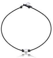 collier de perles blanc parti achat en gros de-2019 Nouveau Mode Simple Blanc Trois Perles En Cuir Collier Pour Femmes Dames Filles Fête D'anniversaire De Mariage Cadeaux Bijoux En Gros