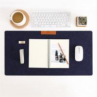 almofada da mesa de jogo venda por atacado-Grande Mesa De Teclado De Computador De Mesa De Escritório Tigre De Feltro De Lã Portátil Almofada De Mesa Pad Game Mouse Pad