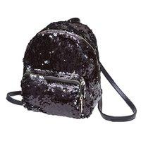 sacolas para laptop sequin venda por atacado-Saco das mulheres Menina Moda Lantejoula Mochila Glitter Bling Mochila Mochila Mulheres de Viagem Laptop Bolsa de Ombro Brilhante Casual Mochila