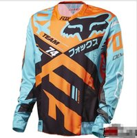 Wholesale cycling xs for sale - Group buy Cycling long sleeved motorcycle mountain bike outdoor sports off road service downhill clothing jersey T shirt men s shirt
