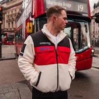 kaliteli polar ceketler toptan satış-19FW Kutusu Logo Seferi Polar Ceket Renk Eşleştirme Splice Ceket Kış Erkek Kadın Mont Moda Sokak Giyim Yüksek Kalite HFYMJK195