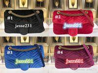 Wholesale velvet chains for sale - Group buy Hot Sale Fashion Women Shoulder Bags Classic Gold Chain cm Velvet Bag Heart Style Women Bag Handbag Tote Bags Messenger Handbags
