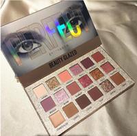maquillaje multi color al por mayor-Hot 18 Color Desnudo Paleta de Sombra de Ojos Paleta de Sombra de Ojos A Prueba de agua Maquillaje Pincel Sombra de ojos Paleta Cosmética