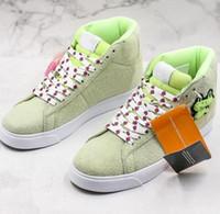zapatos de ranas al por mayor-2019 SB Blazers Frog Mid QS Skateboarding Shoes Diseñador de moda Zapatos de gamuza de color verde zapatos transpirables Caual Entrenadores Tamaño 36-45
