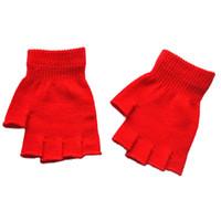gants acryliques achat en gros de-Chaud hiver Femmes Acrylique Bras Mitaines Gants Sans Doigts Unisexe Réchauffeur À Main Hiver Mitaines Mitaines Conduite Gants 18 Nov