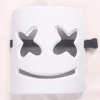 masque de matériau achat en gros de-DJ marshmello masque masques en PVC écologiques 18 * 21 * 7CM cosplay accessoires pour garçons garçons filles
