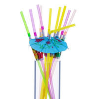 Wholesale umbrella drinks for sale - Group buy Umbrella Straws Disposable Party Decorative Drinking Straw Party Supply for Beach Hawaii Luau Tropical Party Fast Shipping