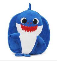 Wholesale cheap animal soft toys online - Lovely cheap plush shark kids backpack custom cute soft baby shark plush toy plush backpack