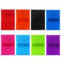 10 inch tablet toptan satış-50 adet Yumuşak Silikon TPU Arka Kapak Kılıf Standı Huawei MediaPad T5 10 AGS2-W09 AGS2-L09 AGS2-L03 AGS2-W19 10.1 inç Tablet