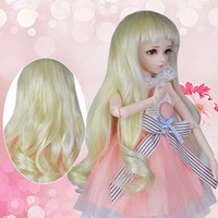 Wholesale baby dolls wigs resale online - 1 BJD Hairs Wig for cm Baby Doll Replaceable Eyeball Baby Girl Dolls Accessories Princess Doll for Children Toy Xmas Gift