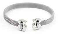 beste ringmarken großhandel-New Fashion Edelstahl Armreif beste Designer Armband Marke Armbänder Schmuck Geschenk für Männer und Frauen Armreifen B7-14