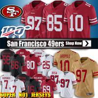 camiseta de fútbol 85 al por mayor-10 Jimmy Garoppolo Jersey 85 Kittle George San Francisco 49er Fútbol 25 Richard Sherman Jersey 97 Nick Bosa jerseys 80 Jerry Rice jerseys