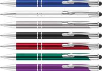 Wholesale promotional ballpoint pens resale online - cheap budget office use engrave logo Aluminium Metal CLASSIC PROMOTIONAL PENS stylus touch ballpoint pen