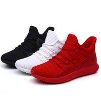 Wholesale white korean sneakers men resale online - Breathable Newest Running Shose HOT Men s Casual Shose Travel Mens Sports Shoes Trend Korean Design Sneakers Black Red White Color