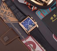 relogios mecânicos quadrados venda por atacado-Mens relógios 2019 designer de luxo relógio C042 movimento mecânico automático homens assistir Real pulseira de couro 42mm Quadrado de discagem venda quente