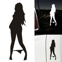 Wholesale black car stick resale online - 20Pcs Car Sticker Black White Bikini Beauty Sexy Girl Anime Car Styling Window Vinyl Decal Car styling Accessories Stick