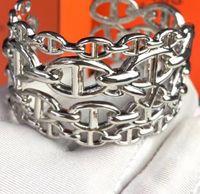 braceletes de prata de largura mulheres venda por atacado-Zoziri famosa marca de jóias oco cor de prata ampla H bloqueio pulseira pulseira mulheres senhoras acessórios