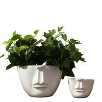 ingrosso grandi vasi di fiori-Vasi bianchi in porcellana di grandi dimensioni Vases in ceramica stile moderno di piccola dimensione per la decorazione domestica