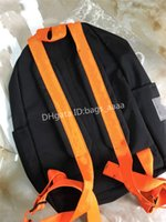 pintando mujeres al por mayor-Nuevos Diseñador Mochila de rayas flecha impresa letra de la pintura al óleo pintadas hombro de la manera bolso al aire libre para las mujeres que viajan Schoolbags
