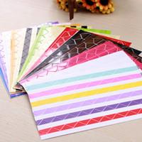 foto de bricolaje etiqueta de la esquina al por mayor-4Set de 408 piezas Colorido Álbum Diario Decoración DIY Photo Corner Craft Sticker