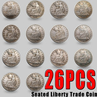 25pcs US Coin 1873-1885 Copy Coin Seated Liberty Silver Plated Coins