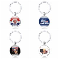 ingrosso catena temporale-Trump 2020 Keychain Time Gem Flag Portachiavi In metallo REELECT Trump Pendente Portachiavi Regalo Portachiavi Gioielli 6 STILI GGA2669