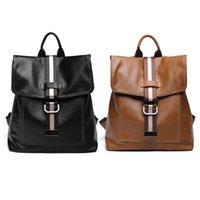 okul çantası çantası toptan satış-2019 Yeni Moda Kadınlar Lady Okul Deri Kızlar Anti Hırsızlık Sırt Çantası Seyahat Çanta Omuz Çanta Çanta