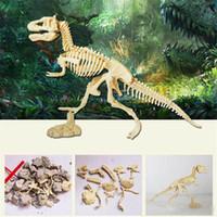 juguete dino al por mayor-Hecho a mano regalos del parque temático para Assorted Plastic Dinosaurs Fossil Skeleton Dino Figuras Niños Juguetes de Cumpleaños Regalo