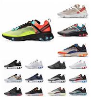 Wholesale 87 men shoes resale online - Men React Element Running Shoes For Men Women Volt Triple Black White Game Royal Sail Solar Red Fashion Mens Trainers Sport sneaker