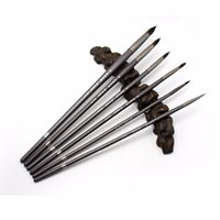 yağlıboya fırçalar toptan satış-Eval 6 adet Sanatçı Boyama Fırça Guaş, Boya Fırçaları Sincap Saç Yuvarlak Fırça Suluboya Akrilik Yağ Okul Sanat Malzemeleri Için T8190617