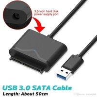 harici disk sürücüleri toptan satış-USB3.0 SATA 22Pin Adaptör Kablosu Için 2.5
