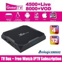 dörtlü çekirdekli en iyi akıllı tv kutusu toptan satış-T95X Android TV Kutusu Amlogic S905X Quad Core 2G 8G Android 6.0 IPTV Kutusu WiFi 2.4G 4 k Medya Oynatıcı