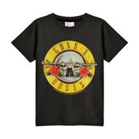 camiseta dos homens unisex venda por atacado-Atacado Desconto Amplified Crianças Guns N Roses Bala Do Vintage Logotipo T Shirt-Unisex Para Meninos Das Meninas