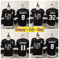 ingrosso camicia veloce jonathan-2019 Youth Los Angeles Kings Kids Hockey Maglie 8 Drewty Doughty 11 Anze Kopitar 32 Jonathan Quick Home Nero Womens Mens cucita camicie