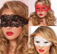 siyah dantel maskeleri toptan satış-Dantel Lady Maske Seksi Kadınlar Siyah Dantel Göz Yüz Maskesi Masquerade Parti Kostüm Partisi Maskeleri Yarım Yüz Maskesi