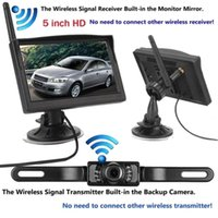 Wholesale wireless backup camera monitor kit resale online - Built In Wireless Waterproof Night Vision System Reverse Backup Car Camera With quot Monitor Kit Black