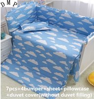 Wholesale nursery bedding sets unisex resale online - Promotion Cartoon Crib Baby Bedding Set Baby Nursery Cot Ropa de Cama cm