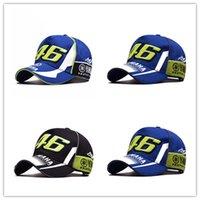 rossi şapkaları toptan satış-YENI Yüksek Kaliteli Moto Gp 46 Motosiklet 3d Işlemeli F1 Yarış Kap Erkek Kadın Snapback Rossi Vr46 Beyzbol Şapkası Yamaha Şapkalar Caps