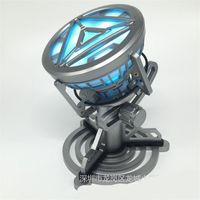erkek çocuk lambası toptan satış-Demir Adam Arc Reaktör Aksiyon Figürleri Oyuncak Çocuk Boy Hediyeler Için LED Modeli Ile Göğüs Lambası DIY 160xm F1