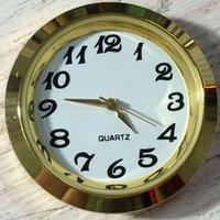 mini relojes de inserción al por mayor-La moda de Nueva 37mm baratos y de oro de la calidad de Ni del metal del oro reloj despertador caber hasta Insertar números Arbic Mini Inserte Reloj