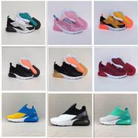 bebé de zapatillas de marca al por mayor-Nike air max 270 Niñas niños Bebé Niño Zapatillas de correr Marca de diseñador de lujo Zapatos para niños Niños Boy y Gril Zapatillas de deporte Atletismo Zapatos de baloncesto