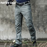 Wholesale army tactical gear resale online - ReFire Gear Military Tactical Cargo Pants Men Special Force Army Combat Pants SWAT Waterproof Large Multi Pocket Cotton TrousersMX190904