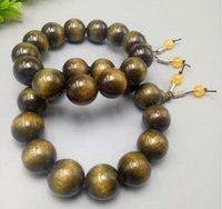 armbänder katzenaugen großhandel-Natürliches Gold-Nanmu-Armband mit Cat Eye-Glanzperlen, handgefertigt aus Wenwan-Katzenaugen-Gold-Seiden-Nanmu-Einzelring-Armband