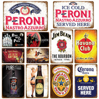 Wholesale guinness tin signs resale online - Sweet Wine Plaque Guinness Havana Miller Vintage Metal Tin Sign Pub Bar Casino Wall Decoration Ricard Beer Wine Poster Hot sale