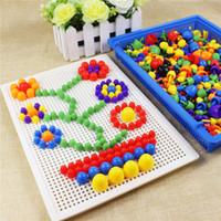 ingrosso chiodi di mosaico-Kit chiodo fungo Puzzle Toys 3D Mosaic Picture Puzzle 296pcs Bambini Bambini Regali di compleanno brinquedos juguetes Giocattoli UNICI