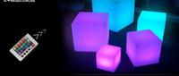 açık renkli çok renkli ışıklar toptan satış-20 CM 30 CM 40 CM Bar Kulübü Kare dışkı Sandalye şarj lambası lityum pil elektrikli tek led gece lambası renkli açık