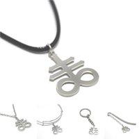 marcadores cruzados al por mayor-eviathan Cross charm necklace Satanás Cross Emblem Sulphur Sign Sigil brazalete llavero marcador